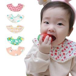 【3條入】MuslinTree嬰兒圍兜寶寶口水巾360度圓形防水圍嘴