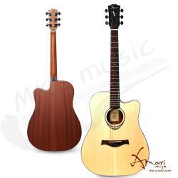 Amari 41吋 雲杉木面板 缺角民謠吉他(418C)原木色 贈超值配件組