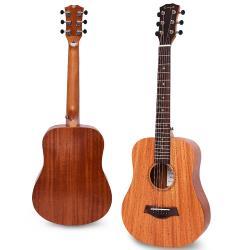 Enya 34吋 雲杉木面板 旅行吉他(EB-01) 贈超值配件組