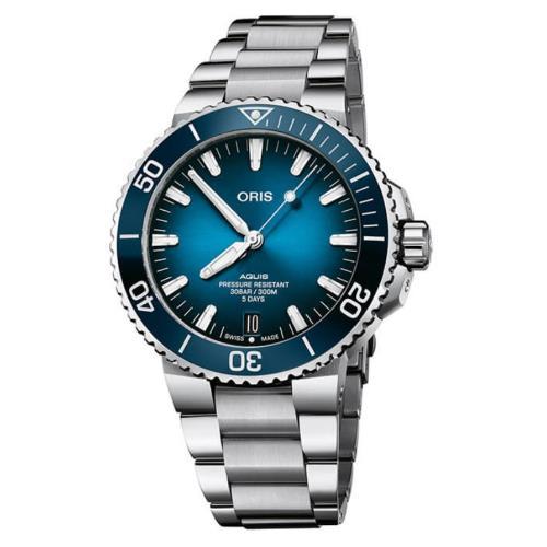 ORIS豪利時0140077634135-0782409PEB/Aquis時間之海系列潛水腕錶/43.5mm