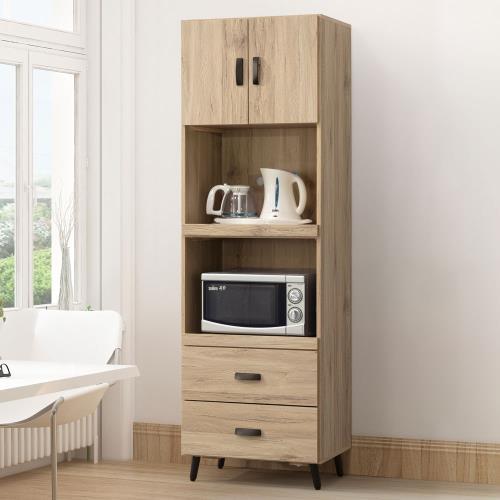 Homelike 菲碧2x6尺電器櫃(橡木色)