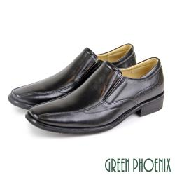 GREEN PHOENIX 台灣製經典時尚直套式紳士皮鞋/商務鞋(男鞋)T29-18912