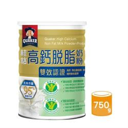 【QUAKER 桂格】雙認證高鈣奶粉(750g/罐)