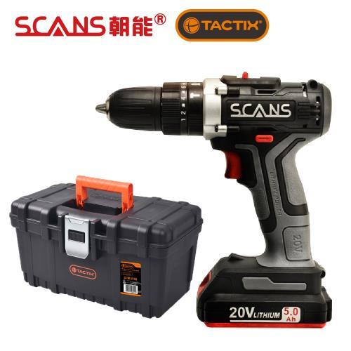 SCANS 朝能 SC-3180 20V鋰電電鑽附16英吋輕巧工具箱