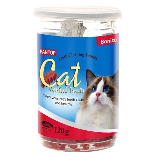 PANTOP邦比-愛貓用潔牙錠/潔牙片(鰹魚)120gx2罐組(943971)
