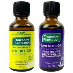 Thursday Plantation星期四農莊  100%PURE精油 50ml 雙瓶組(茶樹 薰衣草任選)
