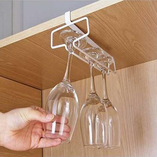 逗點 櫥櫃隔板倒掛單排紅酒杯架 酒吧高腳杯杯架