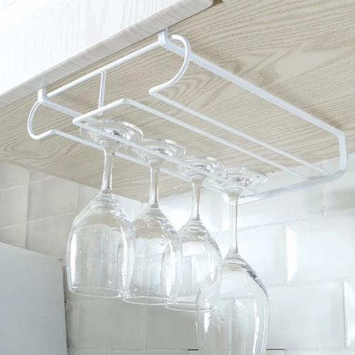 逗點 櫥櫃隔板倒掛圓形雙排酒杯架 紅酒杯架