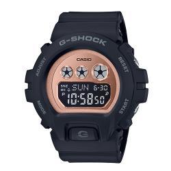 【CASIO 卡西歐】G-SHOCK 時尚電子女錶 橡膠錶帶 防水200米(GMD-S6900MC-1)