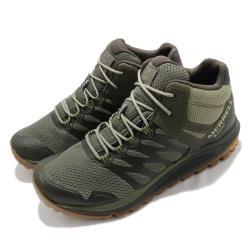 Merrell 戶外鞋 Nova 2 Mid GTX 男鞋 登山 越野 耐磨 黃金大底 防水 綠 黑 ML066649 [ACS 跨運動]