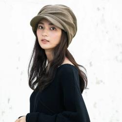 日本 QUEENHEAD 抗寒二重保暖時尚設計針織帽040摩卡色