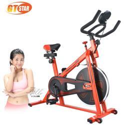 GTSTAR 爆汗級運動飛輪健身車-紅