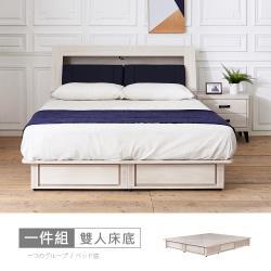 【時尚屋】[RV8]納希四抽6尺加大雙人床底RV8-B127不含床頭箱-床頭櫃-床墊/免運費/免組裝/臥室系列