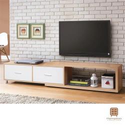 【Hampton 漢汀堡】肯尼雙色4尺伸縮電視櫃