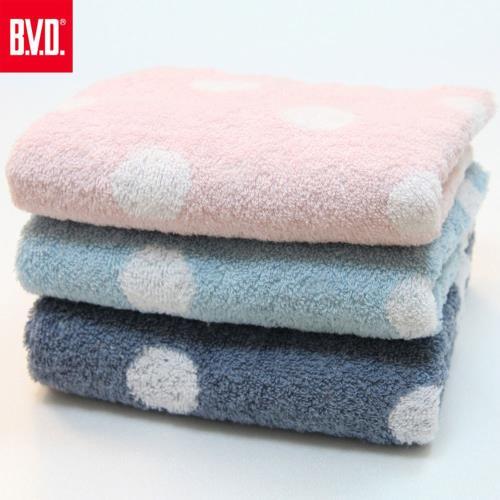 BVD圓點毛巾6條(B05004)