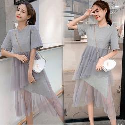 KW韓國.賣瘋了復古風潮層次洋裝