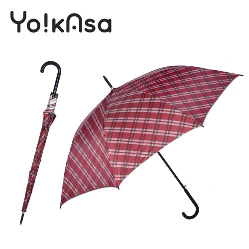 Yo!kAsa 經典格紋 晴雨自動直傘