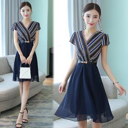 韓國K.W.  時尚穿搭顯瘦名媛洋裝