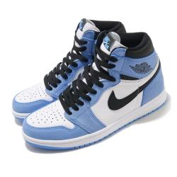Nike 休閒鞋 Air Jordan 1代 Retro 男鞋 經典款 OG 喬丹一代 復刻 北卡藍 藍 白 555088134 555088-134