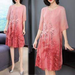 韓國K.W. 韓時尚明星同款印花洋裝