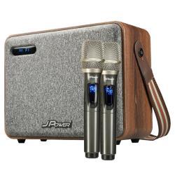 JPOWER震天雷6.5吋肩攜式KTV藍牙音響-實木重砲版