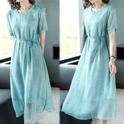 韓國K.W. 時尚潮流穿搭簡約知性純色洋裝