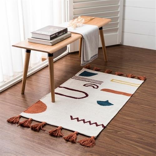 hoi!好好生活 帕特爾印度手工編織地毯-幾何色塊-80x150cm
