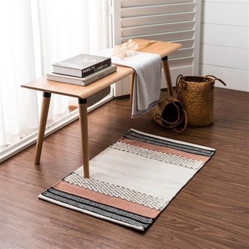 hoi!好好生活 帕特爾印度手工編織地毯-暖陽粉-80x150cm