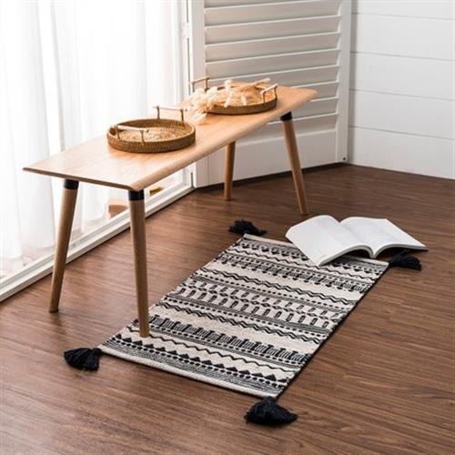 hoi!好好生活 帕特爾印度手工編織地毯-圖騰流蘇80x150cm