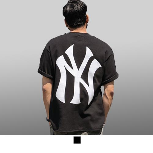 【男人幫大尺碼】T8044*台灣製造NY洋基英文字母加大尺碼純棉圖案T恤/