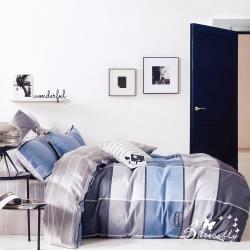 BUTTERFLY-純棉四件式被套床包組-舊金山-藍(加大)