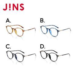 JINS  率性時尚輕量細膠框眼鏡-多款可選