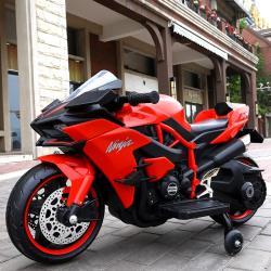 【聰明媽咪兒童超跑】川崎H2R 重型兒童電動機車(摩托車HK-H2R 紅色)