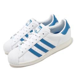 adidas 休閒鞋 Superstar 復古 低筒 男鞋 愛迪達 三葉草 貝殼頭 皮革鞋面 穿搭 白 藍 FW4406 [ACS 跨運動]