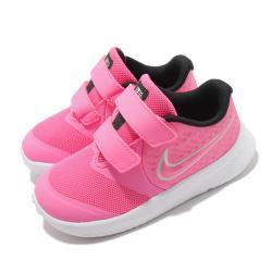 Nike 慢跑鞋 Star Runner 2 TDV 童鞋 輕量 透氣 舒適 避震 魔鬼氈 小童 粉 白 AT1803603 [ACS 跨運動]