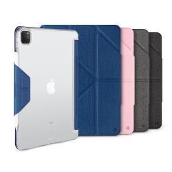JTL / JTLEGEND iPad Air 2020 Amos 12.9吋 相機快取多角度折疊布紋皮套(有Apple pencil磁扣_無筆槽)