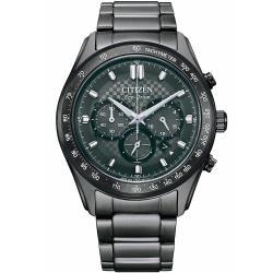 CITIZEN 星辰Chronograph三眼錶藍寶石玻璃鏡面不鏽鋼錶43mm2021年新款(CA4457-81H)