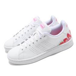 adidas 休閒鞋 Advantage 運動 女鞋 愛迪達 基本款 舒適 簡約 穿搭 白 紅 FZ2033 [ACS 跨運動]