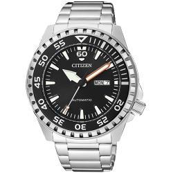 【CITIZEN 星辰】機械指針男錶 不鏽鋼錶帶 防水100米 自動上鍊(NH8388-81E)