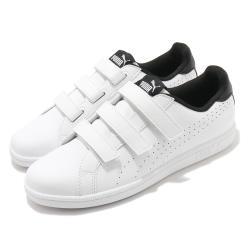 Puma 休閒鞋 Smash Velcro 復古 女鞋 基本款 皮革鞋面 穿搭推薦 魔鬼氈 白 黑 36372303 [ACS 跨運動]