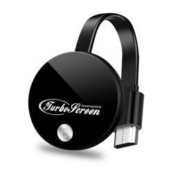 【七代TurboScreen】圓形光亮款全自動無線影音傳輸器(送4大好禮)