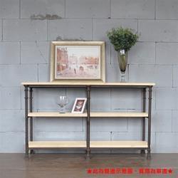 hoi!好好生活 鐵藝實木隔板收納置物餐邊櫃 75x45x85cm