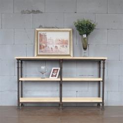 hoi!好好生活 鐵藝實木隔板收納置物餐邊櫃 150x40x85cm
