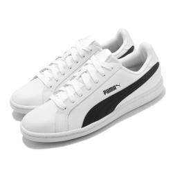 Puma 休閒鞋 Smash L 復古 男女鞋 基本款 皮革鞋面 穿搭推薦 情侶 板鞋 白 黑 35672211 35672211 [ACS 跨運動]