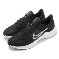 Nike 慢跑鞋 Downshifter 11 運動 男鞋 輕量 透氣 舒適 避震 路跑 健身 球鞋 黑 白 CW3411006 [ACS 跨運動]