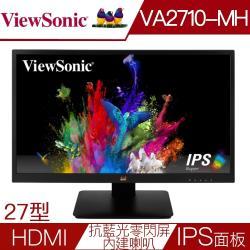 原價5988下殺↘ViewSonic優派 VA2710-MH 27型IPS面板雙介面FHD抗藍光零閃屏液晶螢幕