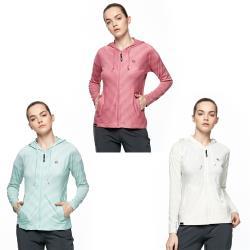 【HAKERS 哈克士】女 沁涼感抗UV快乾條紋外套(三色)
