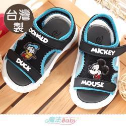 魔法Baby 男童鞋 台灣製迪士尼米奇唐老鴨正版休閒運動涼鞋~sd3187