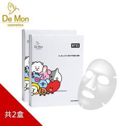 DeMon BT21微分子修護水凝面膜(5片/盒)X2盒_熊媽媽回饋