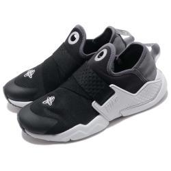 Nike 休閒鞋 Huarache Extreme 女鞋 武士鞋 襪套 輕量 透氣 舒適 大童 黑 灰 AQ7936002 [ACS 跨運動]